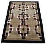 Navajo with Hubbell crosses. Floor rug