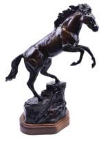 """Rampant Stallion"" Bronze by Peter Darro"