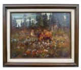"""Moose in the Meadow"" by ron bailey - 1 of 2"