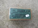 Vintage box of 50 No.38 Rifle Cartridges by Winchester Repeating arms.