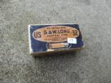 Vintage box of US S.&W. long 32 cartridges Excellend condition