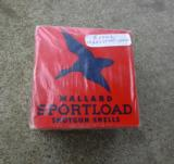 Vintage box of Mallard Sportload 20 Ga shotgun shells.