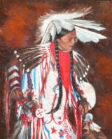 Native American Portrait by Peggy Ann Thompson