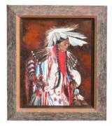 Native American Portrait by Peggy Ann Thompson