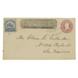 1862 Pony Express 25 Cent Blue Single Stamp LEtter