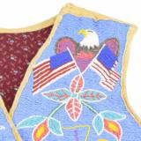 Coeur d' Alene Tribe Pictorial Beaded Vest - 2 of 4