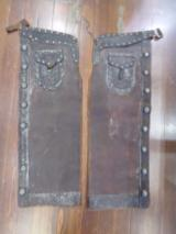 Shotgun Chaps Tooled Leather Cowboy