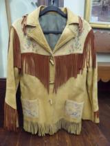 Vintage-Western-Buckskin-Jacket-Ladies-Fringe-BeadedVintage-Western-Buckskin-Jacket-Ladies-Fringe-BeadedVintage-Western-Buckskin-Jacket-Ladies-Fr