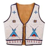 Morning Star Pattern Vest and Moccasins