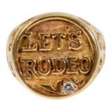 Let's Rodeo Gold Ring