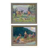 """""""The Loot"""" and """"The Capture"""" by August Curley Lenox - 1 of 6"""