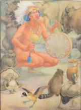 Indian Brave with Animals by Elizabeth Curtis