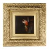 Audubon Like Hanging Songbirds Oil Painting - 2 of 3
