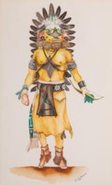 Hopi Kachinas by Dan Viels Lomahaptewa