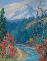 """Mount Hood"" by Dorothy Dolph Oil on Board"