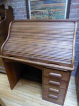 Antique S-Curve Roll Top Desk