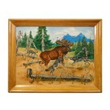 Moose Oil Painting by Curtis Hatcher