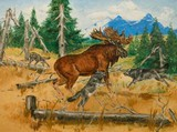 Moose Oil Painting by Curtis Hatcher - 2 of 3