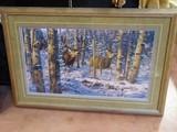"""Bucks Fever on No-Tellum Ridge"" print by Leon Parson Framed"
