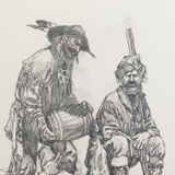 Bottoms Up by Gary Carter Original Pencil Drawing - 3 of 5