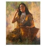 Isdzan Apache Woman by Howard Terpning
