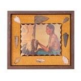 Framed Arrowhead Display with Native Print