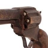 Hand Carved Colt Revolver - 2 of 3