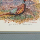 Pheasant Pair by the Old Barn by Glenn Emmons - 4 of 4