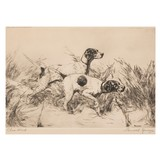 Close Work by Percival Rossau Etching - 2 of 5