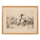 Close Work by Percival Rossau Etching - 1 of 5