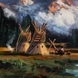 Blackfeet Camp by Heinie Hartwig - 3 of 5