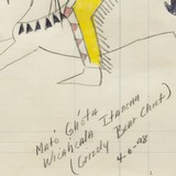 """""""Grizzly Bear Chief"""" Ledger Drawing - 3 of 4"""