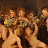 Cherubs Painting Fruchterkranz by F. Kottman after N. Ruvens - 3 of 5