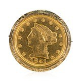 Gold Coin Brooch - 1 of 5