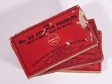 Three Boxes No. 33 Remington Copper Primers