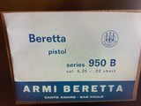 Beretta RARE 950B made inITALY 22 short MINT Like new condition See pictures - 8 of 9