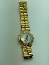 Gerald Genta Mickey Mouse watch RARE as it is all 18kt. Gold both watch and band in Mint condition