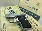 Beretta NEW RARE only a few made 950B.25 Jetfire Italy All made in Heavy Chrome