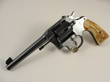 Colt 1938 New Service Shooting Master .38 Motorcycle Police Stag Stocks - Letter LEO