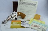 SCARCE Colt Diamondback .22 NIB 4'' Nickel 1983 with Factory Letter - Excellent