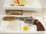 "MINT Colt Python .357 Magnum 8"" BRIGHT NICKEL Stunning Original Box and Letter 1981"