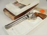 "Colt Python Target .38 8"" STUNNING NICKEL Original Box and Letter 1980 – One of the 251 mfg LNIB"