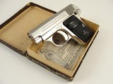 1920 Colt Vest Pocket Model 1908 Hammerless .25 ACP in Nickel – Factory Lettered - BOXED