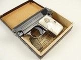 1933 Colt Vest Pocket Model 1908 Hammerless 25 ACP with Pearl Grips and Original Box