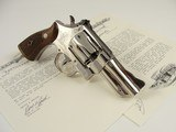 1950 S&W Pre 27 .357 Magnum 3.5'' Nickel Magna Grips- Factory Letter – C&R