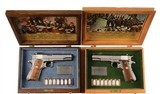 2 Cased WWII Colt Commemorative 1911 1970 5
