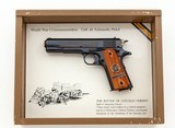 Colt WWI Chatteau Thierry1911 Engraved Display Box