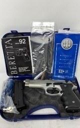 Beretta 92FS Brigadier INOX Pistol 9mm 4.9in 15rd Stainless JS92F565M