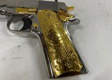 Colt 1911 Government .38 Super Chromed Stainless w/ Gold accents - 3 of 7