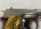 Colt 1911 Government .38 Super Chromed Stainless w/ Gold accents - 5 of 7